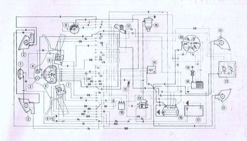 Schema Elettrico Vespa Pk 50 Xl : Schema elettrico vespa v hp pk xl elestart