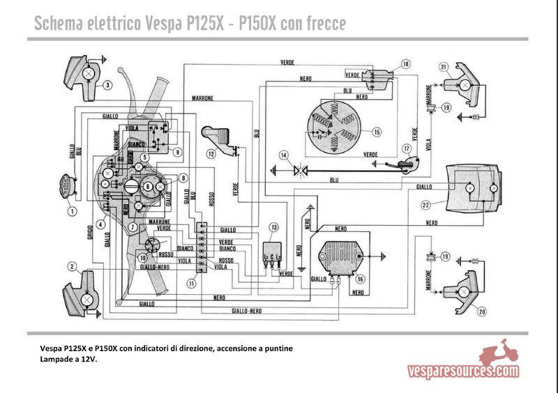 Schema Elettrico Frecce : Problema con l impianto elettrico px del