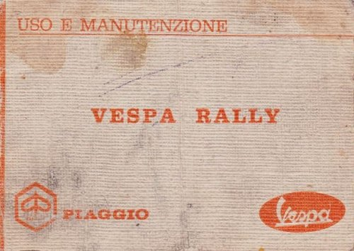 Uso e Manutenzione Vespa 180 Rally VSD1T