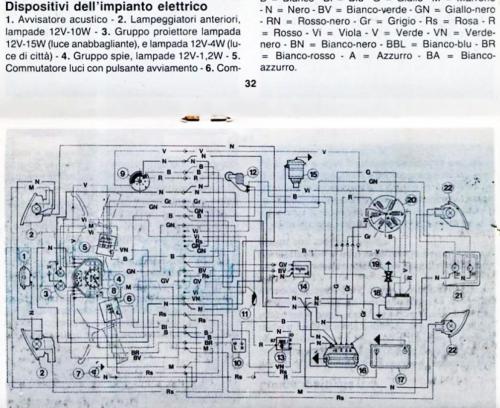 Schema Elettrico Vespa 50 N : Schema elettrico vespa hp v n t impianti